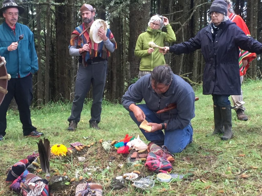In ceremony with the land in Yachats, Oregon 2015