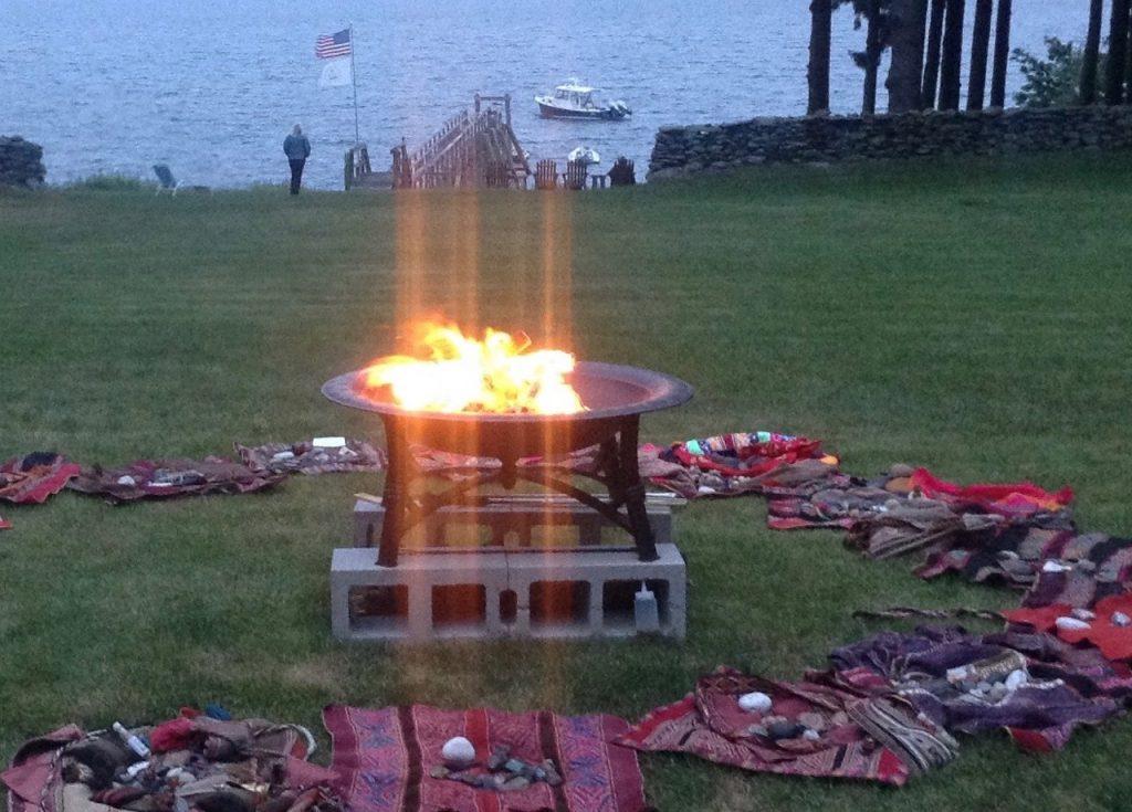 Transcending mesa fire ceremony