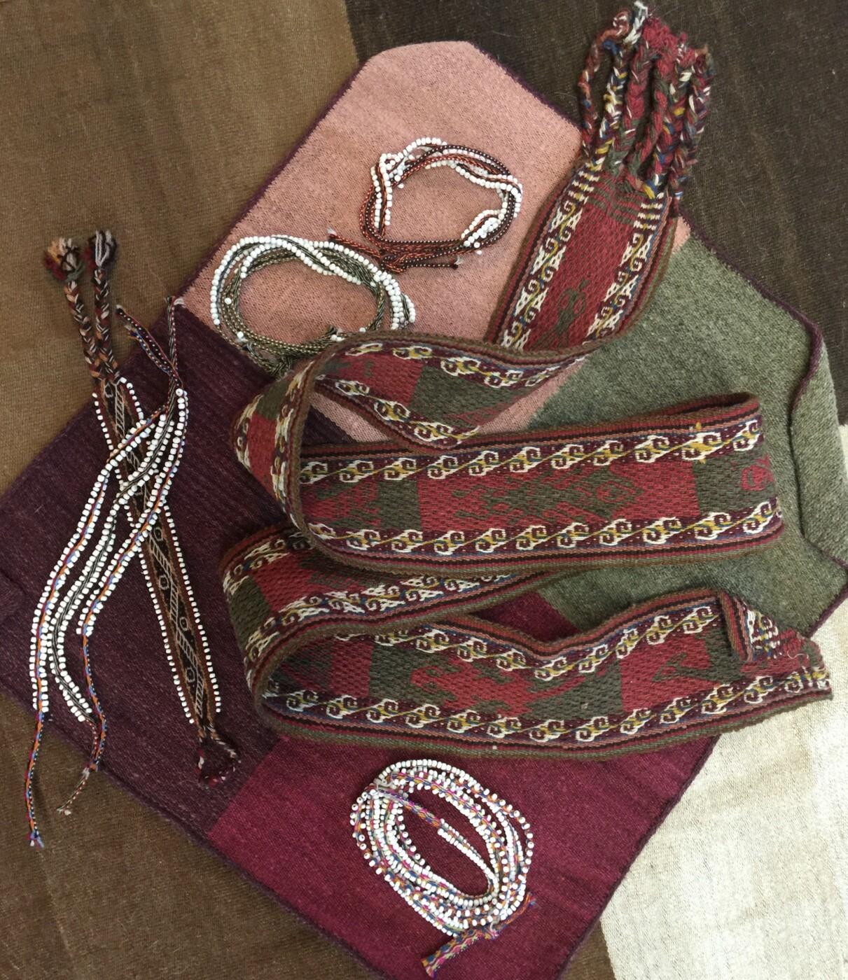 Peruvian Woven Belts, Watana Wrist and Boot Wraps